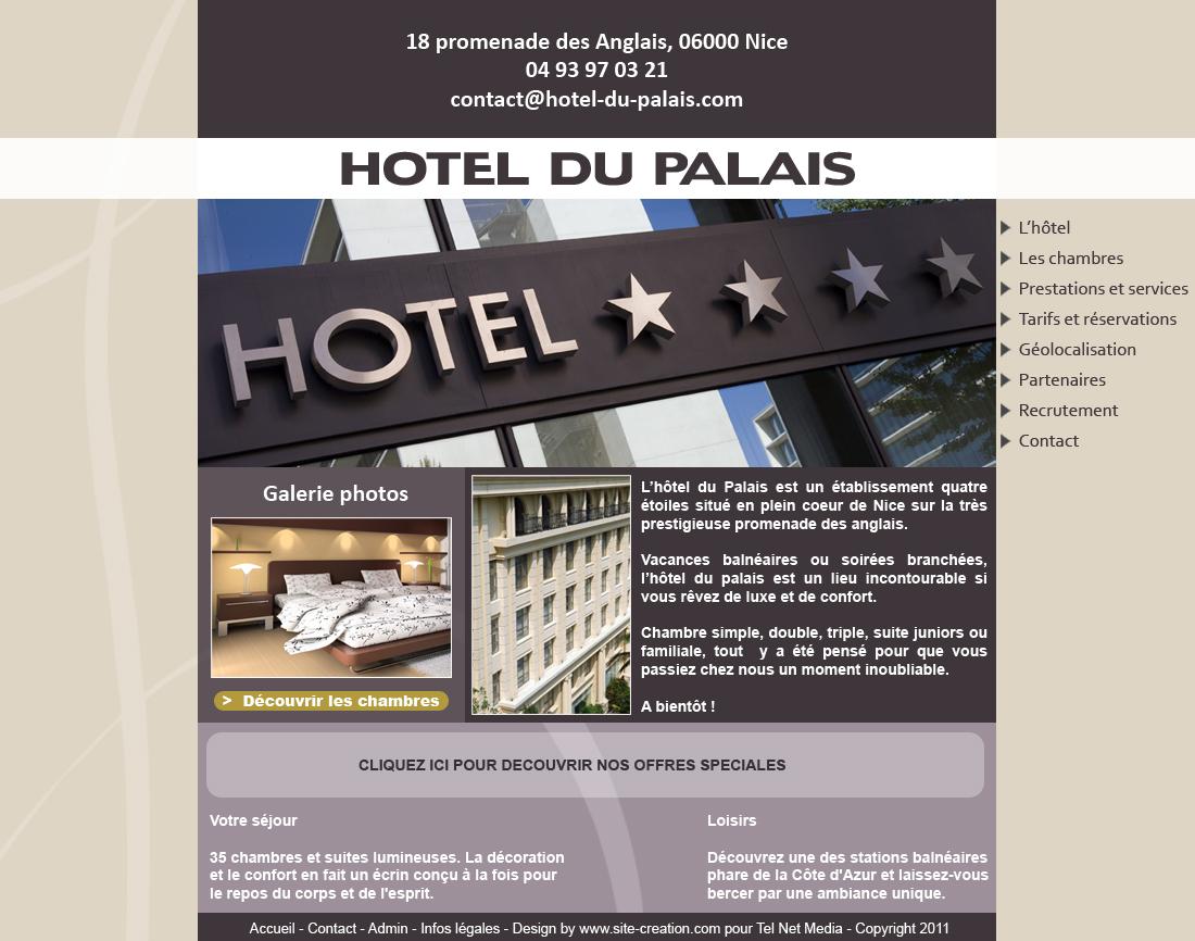 Exemple Site Hotel Modle De Site Htel Pour L U0026 39 Hotellerie