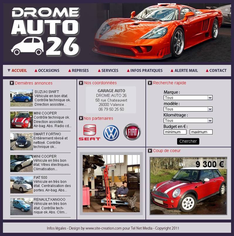Exemple site automobile modle pour la cration de site auto for Garage volkswagen lunel