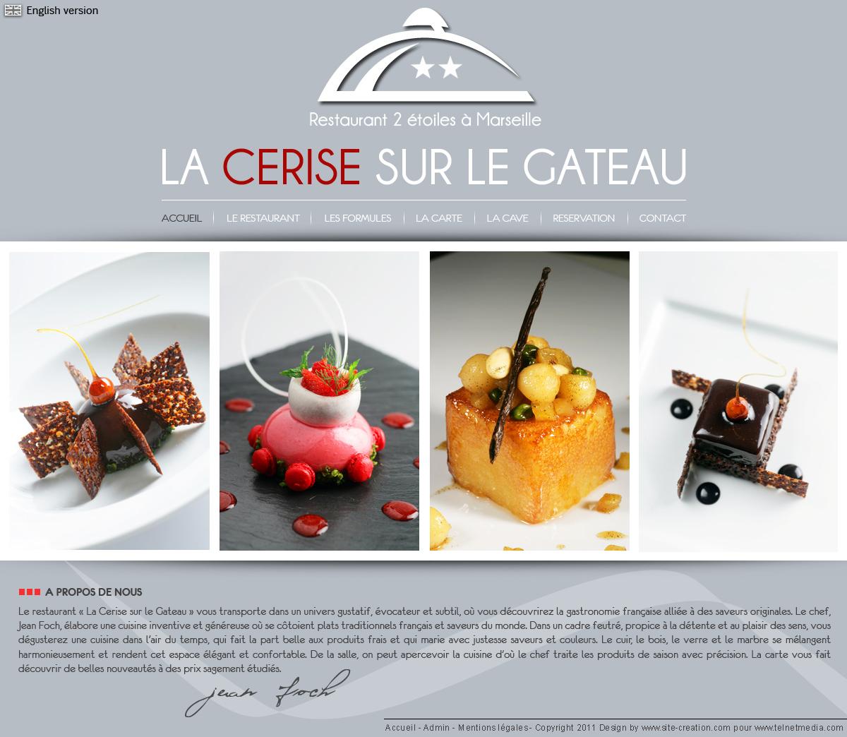 Restaurant Deux Toiles De Marseille La Cerise Sur Le Gateau Vous Sduira Par Une Carte Raffine